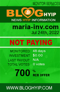 bloghyip.com - hyip maria investments