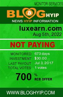 luxearn.com monitoring by bloghyip.com