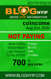 coincome.info monitoring by bloghyip.com
