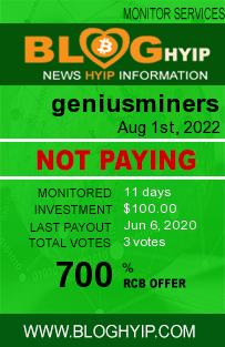 geniusminers.com monitoring by bloghyip.com
