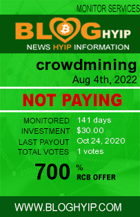 crowdmining.biz monitoring by bloghyip.com